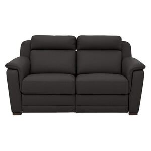 Nicoletti - Matera 2.5 Seater Leather Power Recliner Sofa with Pad Arms - Brown