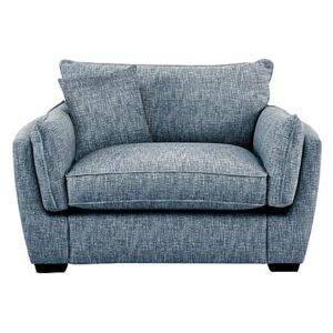 Living Proof Sofas - Griffin Fabric Snuggler Chair - Blue