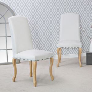 Lucerne Natural Luxury Dining Chair With Studs