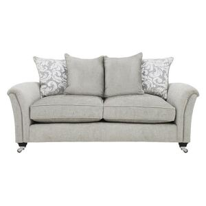 Parker Knoll - Devonshire Large 2 Seater Pillow Back Fabric Sofa - Grey