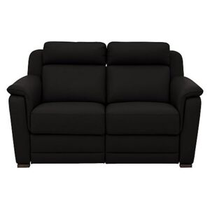 Nicoletti - Matera 2 Seater Leather Power Recliner Sofa with Pad Arms - Black