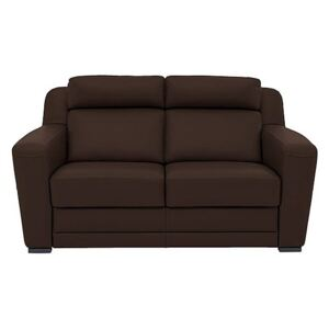 Nicoletti - Matera 2.5 Seater Leather Static Sofa with Box Arms - Brown