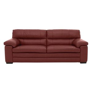 Cozee 3 Seater Pure Premium Leather Sofa - Red- World of Leather