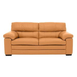 Cozee 2 Seater Pure Premium Leather Sofa - Yellow- World of Leather