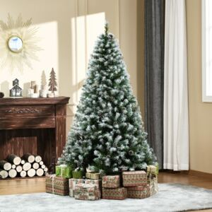 HOMCOM 6FT Artificial Christmas Tree with Pine Cones, Holiday Home Xmas Decoration Automatic Open, Green