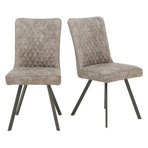 Earth Pair of Dining Chairs - Grey