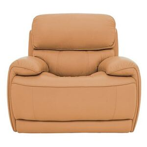 Relax Station Rocco Leather Power Rocker Armchair with Power Headrests - Yellow- World of Leather