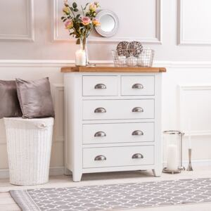 Hampshire White Painted Oak 2 Over 3 Chest