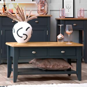Gloucester Midnight Grey Painted Large Coffee Table