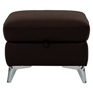 Galaxy Storage Footstool - Brown- World of Leather