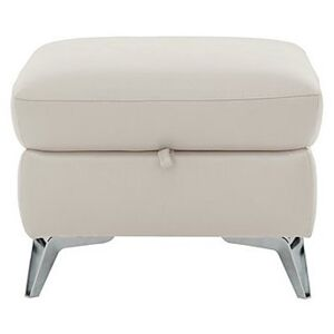 Galaxy Storage Footstool - White- World of Leather