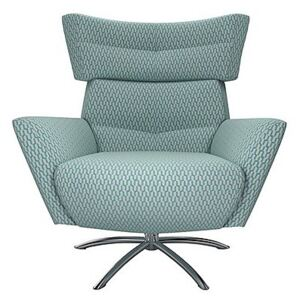 The Lounge Co. - Hermione Jacob Fabric Armchair - Blue