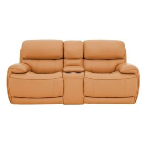 Relax Station Rocco 2 Seater Leather Power Rocker Sofa with Cupholders and Power Headrests - Yellow- World of Leather