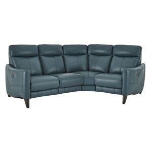 Compact Collection Petit Leather Corner Sofa - Green- World of Leather