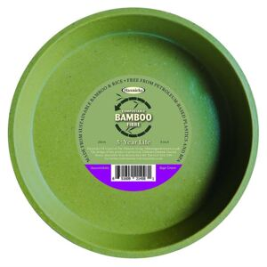 8in Bamboo Saucer Single Sage Green
