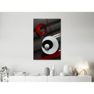 Canvas Print Abstract: Ribbons (1 Part) Vertical