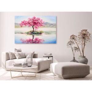 Canvas Print Trees: Blooming Island (1 Part) Wide
