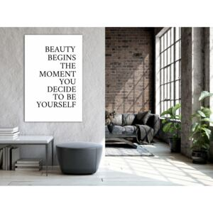 Canvas Print Quotes: Decide to Be Yourself (1 Part) Vertical