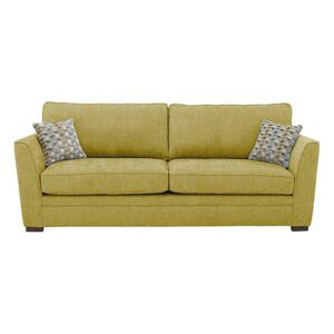 The Delight 3 Seater Classic Back Fabric Sofa - Green