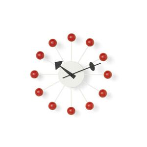 Ball Clock Wall clock - / By George Nelson, 1948-1960 / Ø 33 cm by Vitra Natural wood