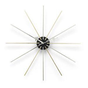 Star Clock Clock - / By George Nelson, 1948-1960 / Ø 61 cm by Vitra Gold/Silver/Metal