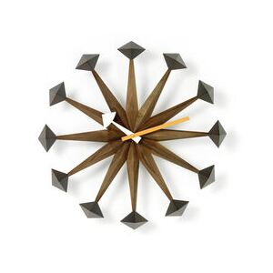 Polygon Clock Wall clock - / By George Nelson, 1948-1960 / Ø 43 cm by Vitra Natural wood