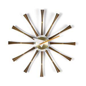 Spindle Clock Wall clock - / By George Nelson, 1948-1960 / Ø 57 cm by Vitra Natural wood