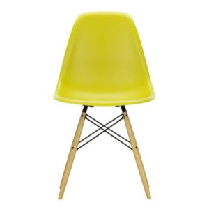 DSW - Eames Plastic Side Chair Chair - / (1950) - Light wood by Vitra Yellow