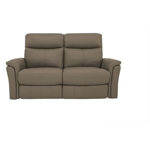 Compact Collection Piccolo 2 Seater Recliner Sofa - Grey- World of Leather