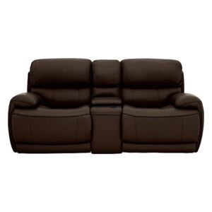 Relax Station Rocco 2 Seater Leather Power Rocker Sofa with Cupholders and Power Headrests - Brown- World of Leather