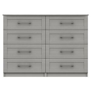 London Bedrooms - Fenchurch 8 Drawer Wide Chest - Grey