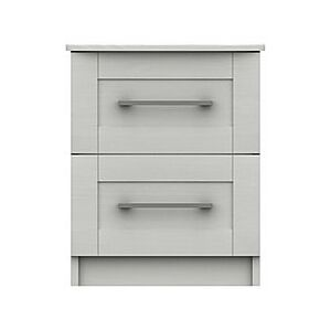 London Bedrooms - Fenchurch 2 Drawer Bedside Chest - White