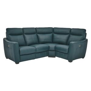 Compact Collection Midi Leather Corner Sofa - Green- World of Leather