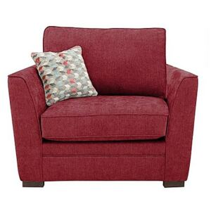 The Delight Fabric Armchair - Red