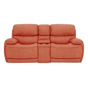Relax Station Rocco 2 Seater Fabric Power Rocker Sofa with Cupholders and Power Headrests - Orange