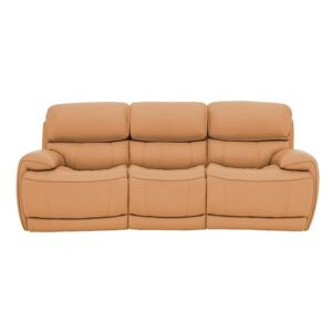Relax Station Rocco 3 Seater Leather Power Rocker Sofa with Power Headrests - Yellow- World of Leather