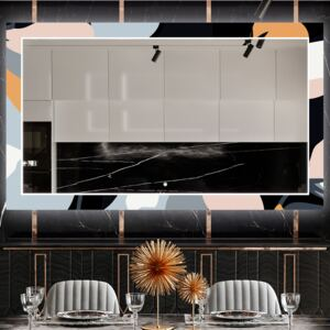 Light up decor mirror for the dining room