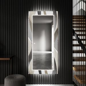 Art deco mirror for the dining room with LED lights