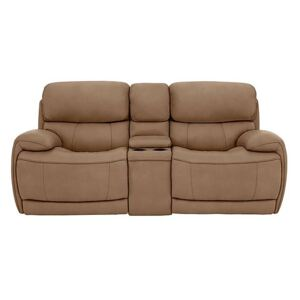 Relax Station Rocco 2 Seater Fabric Power Rocker Sofa with Cupholders and Power Headrests - Brown