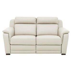 Nicoletti - Matera 2.5 Seater Leather Power Recliner Sofa with Pad Arms - Cream