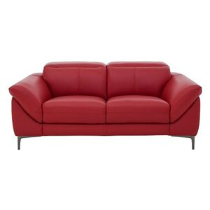 Galaxy 2 Seater Sofa with Manual Headrests - Red- World of Leather