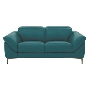 Galaxy 2 Seater Sofa with Manual Headrests - Teal- World of Leather