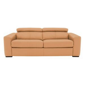 Infinity 3 Seater Leather Sofa - Yellow- World of Leather