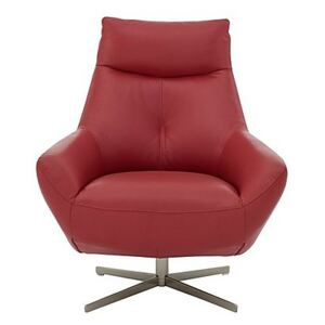 Galaxy Swivel Chair - Red- World of Leather