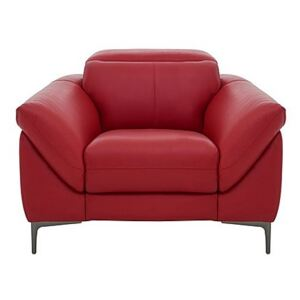 Galaxy Armchair with Manual Headrests - Red- World of Leather