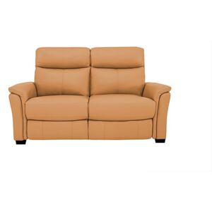 Compact Collection Piccolo 2 Seater Leather Static Sofa - Yellow- World of Leather