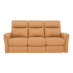 Compact Collection Piccolo 3 Seater Recliner Sofa - Yellow- World of Leather