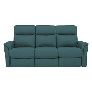 Compact Collection Piccolo 3 Seater Recliner Sofa - Green- World of Leather