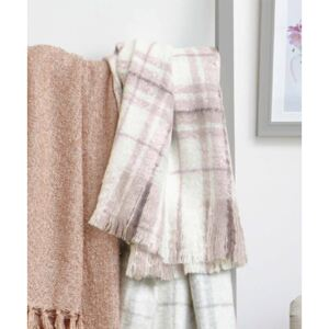 Damart Supersoft Faux Mohair Check Throw