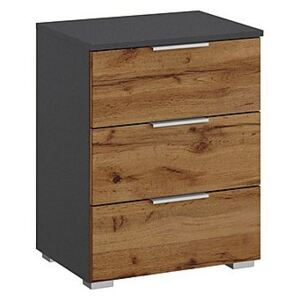 Rauch - Indiana 3 Drawer Bedside Cabinet - Brown